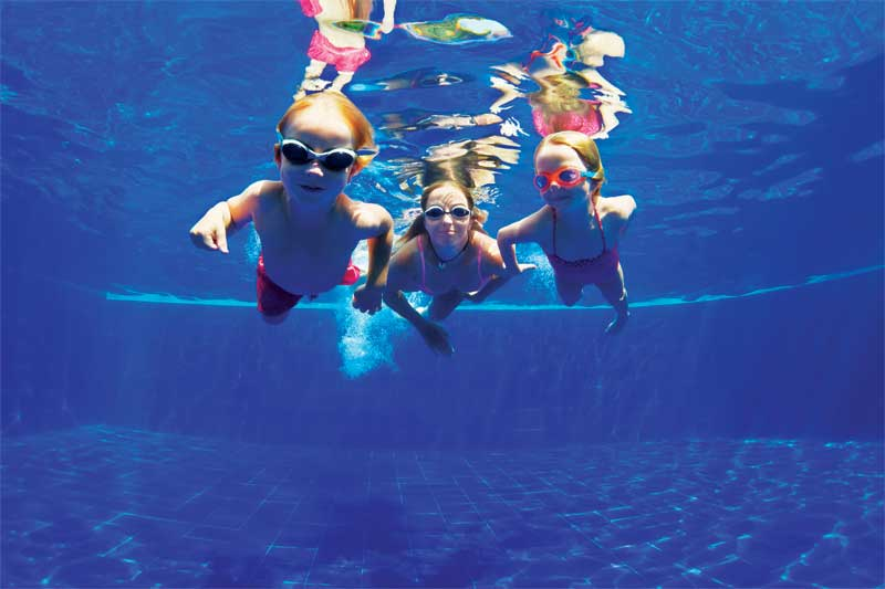Pools that are properly maintained with correct water balance and sanitizer levels do not pose a threat  to bathers.