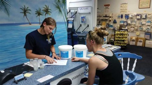 Businesses can take advantage of the printouts from water testing software to help recommend products to customers—which is especially helpful during the busy summer months.