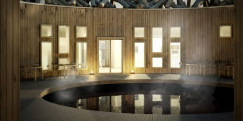 A free-floating hotel—Arctic Bath—has opened in Lapland, Sweden.