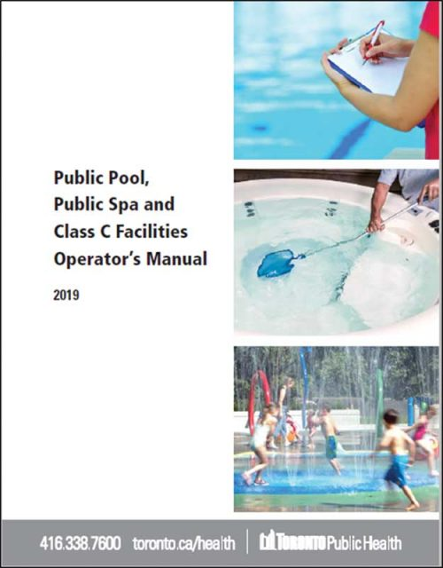 This is an example of the materials developed for pool operators in the Toronto Public Health's Public Pool, Public Spa, and Class C Facility Operator's Manual.