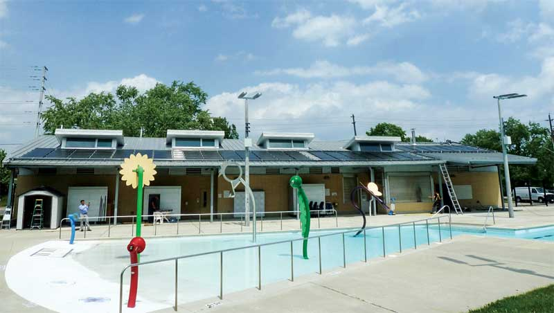 In 2017, the City of Mississauga commissioned Ian Sinclair, a specialized consulting engineer, to assess the feasibility of installing a solar water heating system at the Lions Club of Credit Valley outdoor pool.