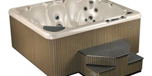 Beachcomber Hot Tubs in Collingwood, Ont., is looking for information on the theft of three hot tubs earlier this month, including two 540 models similar that show in in this photo.