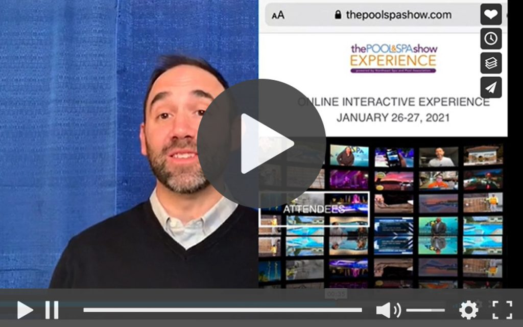 Click the image to get all the details about the Pool & Spa Show EXPERIENCE from the Northeast Spa and Pool Association's (NESPA's) executive director, Dominick Mondi.