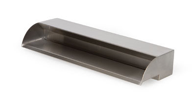 Atlantic offers its elegant Stainless Steel Spillways in corrosion-resistant 316 stainless in three sizes.