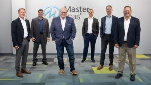 Master Spas executives, left to right, Terry Valmassoi, co-founder and president; Mike Reese, vice-president of manufacturing, Bob Lauter, CEO and co-founder; Nathan Coehlo, vice-president of engineering; Kevin Richards, vice-president of marketing and sales; and Sam Badiac, executive vice-president.