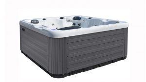 Northern Hot Tubs, based in Meaford, Ont., is focusing its business on the 'work-from-home' model. Spas from Northern Hot Tubs come in two-, four-, six-, and eight-person sizes in a silver-marble colour.
