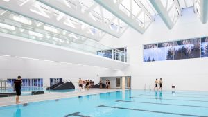 Guildford Aquatic Center in Surrey, B.C. will reopen next week with health and safety protocols in place.